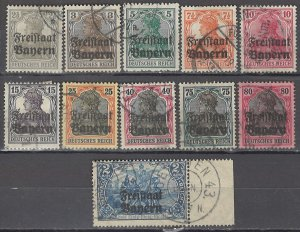 COLLECTION LOT OF #1210 BAVARIA 11 STAMPS 1919 CV + $32