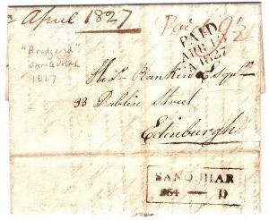 GB SCOTLAND Cover Briddgend EL SANQUHAR Mileage 1827 {samwells-covers} ZA112