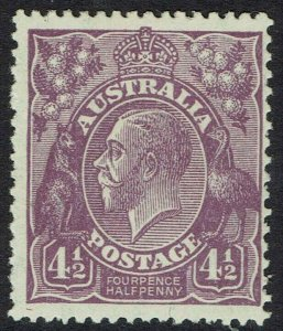 AUSTRALIA 1926 KGV 41/2D SMALL MULTIPLE WMK PERF 13.5 X 12.5