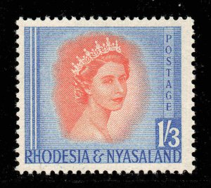 Rhodesia Nyasaland 1954 QEII  1/3d SG 10 mint