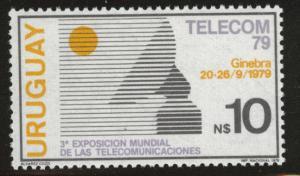 Uruguay Scott 1052 MNH** 1979 Telecom stamp
