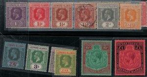 Leeward Islands 1921-1932 SC 61-83,61a,63a,70a,75a Mint SCV $603.00 Set
