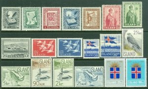 EDW1949SELL : ICELAND Collection of ALL DIFFERENT VF Mint OG Cplt sets. Cat $154