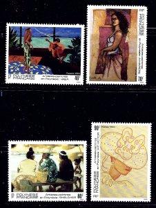 French Polynesia 629-32 1993 Paintings    (ap1141)
