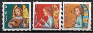Brazil MNH 1593-5 Christmas Angels 1978