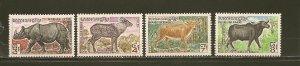 Cambodia 295-296 & 298-299 Wild Animals MNH