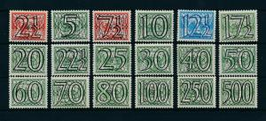 [17095] Netherlands 1940 Definitives Surcharged 18 values MNH