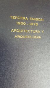 O) BOOK THIRD ISSUE 1950 1975ARCHITECTURE AND ARCHEOLOGY - TERCERA EMISION