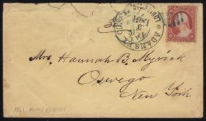 ADAMS EXPRESS Co. AUG 3,1861 LOUISVILLE, KY ON NCOVER CV $1,250 WL6838