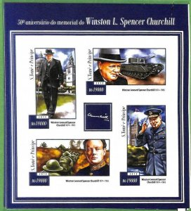 A3512-Sao Tome & Principe ERROR INPERF 2015 PEOPLE Winston Churchill WAR