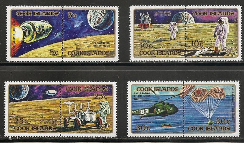 Cook Islands 319-22 1972 Apollo Moon Exploration set MNH
