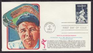 US 2046 Babe Ruth 1983 Den's Collectors U/A FDC