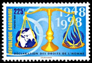 Gabon 932, MNH, 50th Anniversary Declaration of Human Rights