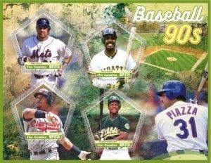 Stamps. Sports Baseball Set 2 sheet perforated