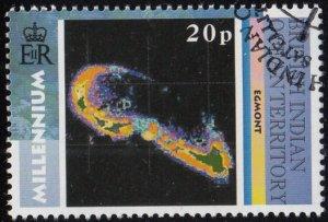 BIOT 2000 used Sc #220 20p Egmont Atoll Satellite Images