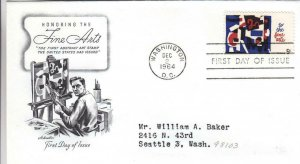 1964, Honoring the Fine Arts, Artmaster, FDC (D13906)