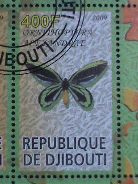 DJIBOUTI STAMP-2009-DISNEY CARTOON STAMP-BAMBI- BUTTERFLY - CTO S/S SHEET- VF