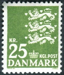 DENMARK-1949 25k Yellow Green Sg 348w UNMOUNTED MINT V36681