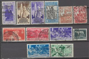 COLLECTION LOT # 5302 ITALY 12 STAMPS 1928+ CV+$20