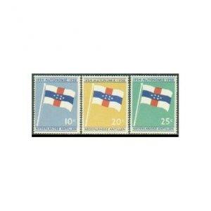 Neth Antilles 262-264,MNH.Michel 99-101. New constitution,5th Ann.1959.Flag