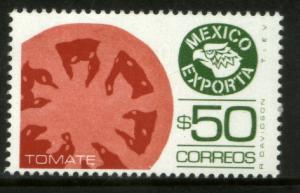 MEXICO Exporta 1493, $50P Tomatoes Unwmkd Fosfo Paper 8 MINT, NH. VF.