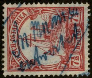 Germany East Africa Mi32 Wmk MUANSA Handwritten Cancel Deutsch Ostafrika D 78805