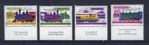 ISRAEL 1977 MNH SC.674/677+tabs Railways in the Holy Land
