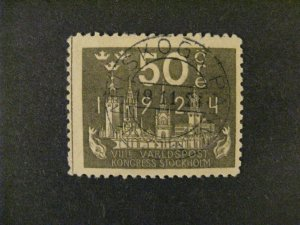 Sweden #206 used  a21.9 3241