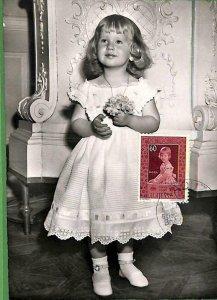90235 - LIECHTENSTEIN - Postal History - MAXIMUM CARD -  Royalty 1955