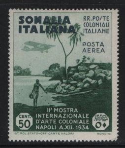 SOMALIA, C2, HINGED, 1934, VIEW OF COAST