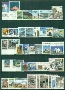 EUROPA Worldwide 1987 sets, 35 diff countries, Complete, og, NH, Scott $138.00