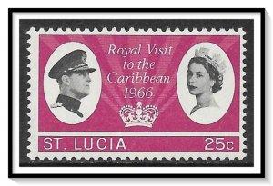 St Lucia #206 Royal Visit MH