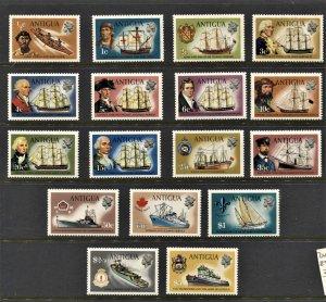 STAMP STATION PERTH  Antigua #241-257 Definitive Set -MNH CV$38.00