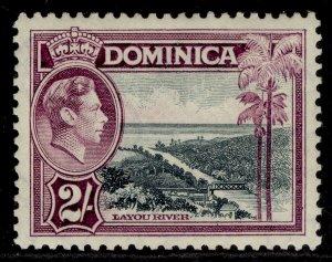 DOMINICA GVI SG106a, 2s slate & purple, LH MINT. Cat £10.