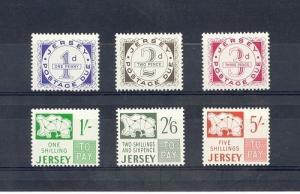 Jersey Scott J1-J6 Mint NH