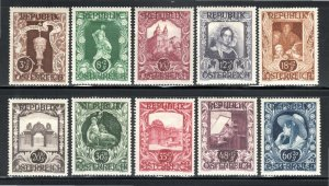 Austria B208-17 - Mint-H - Semi Postal Designs (Cpl) (1947) (cv $4.50)