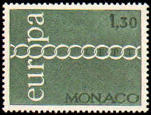 MONACO #797-799  MINT NEVER HINGED COMPLETE SET ( 3 )  EUROPA