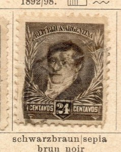 Argentina 1892-98 Early Issue Fine Used 24c. NW-11752