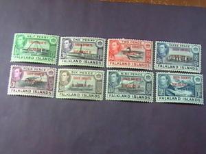FALKLAND ISLANDS/SOUTH ORKNEYS # 4L1--4L8 -MINT/HINGED--COMPLETE SET--KGVI--1944