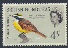 British Honduras SG 205 SC # 170 MLH  Birds Kiskadee  see scans