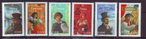 J20461 Jlstamps 2003 france set mnh #2971-6 famous people