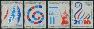 HERRICKSTAMP NEW ISSUES GREECE Sc.# 2729-32 Diplomatic Relations w/ Russia 2016