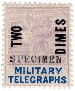 (I.B) QV Telegraphs : Military Telegraphs 2d on 2d OP (Egypt 1887)
