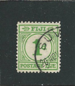 FIJI POSTAGE DUE 1940 1d EMERALD-GREEN FU SG D11 CAT £70