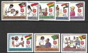 Antigua &Barbuda 1083-90   1988 set 8  VF NH