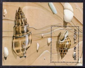 Angola 867 Seashells Souvenir Sheet MNH VF