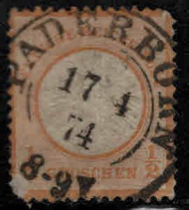 Germany Scott 16 used 1872 Imperial Eagle Large shield city cancel