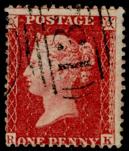 SG40, 1d rose-red, LC14, FINE USED. Cat £12. RK