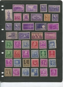 STAMP STATION PERTH USA Early Selection of 43 Stamps Unchecked Mint -Lot 8