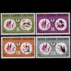 K.U.T. 1968 - Scott# 185-8 WHO 20th. Set of 4 NH